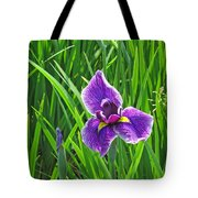 Purple Water Iris Tote Bag