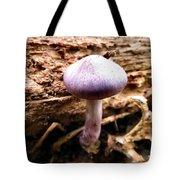 Purple Wild Mushroom Tote Bag