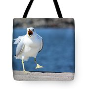 Putting His Foot Down Tote Bag by Kristin Elmquist