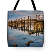 Pylons In Humboldt Bay Tote Bag