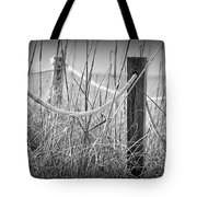 Pylons On The Beach Tote Bag