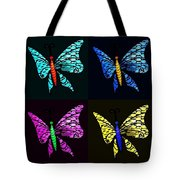 Quad Butterflies Tote Bag