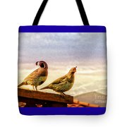 Quail And His Lady Tote Bag