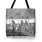 Quaker Worship, 1842 Tote Bag