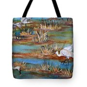 Quality Time At The Marsh Tote Bag