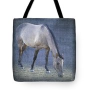 Quarter Horse In Blue Tote Bag by Betty LaRue