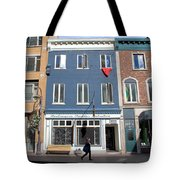 Quebec City Street View Tote Bag