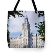 Quebec Parliament Buildings Quebec Tote Bag