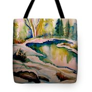 Quebec Winter Landscape Tote Bag