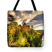 Quechee Gorge In The Fall  Tote Bag