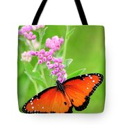 Queen Butterfly Wings With Pink Flowers Tote Bag