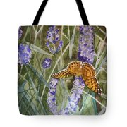 Queen Of Spain Fritillary And Lavender II Tote Bag