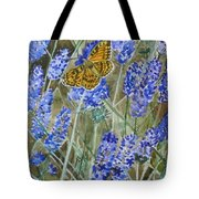 Queen Of Spain Fritillary And Lavender Tote Bag