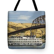 Queen Of The West Paddlewheeler Tote Bag