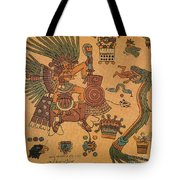 Quetzalcoatl, Aztec Feathered Serpent Tote Bag