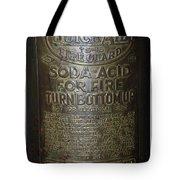 Quick Aid Extinguisher Tote Bag