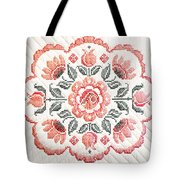Quilted Centerpiece Tote Bag