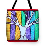 Quilted Winter Tree Tote Bag