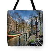 Raamgracht And Groenburgwal. Amsterdam Tote Bag