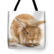 Rabbit And Dwarf Hamster Tote Bag