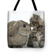 Rabbit And Kitten Tote Bag