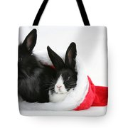 Rabbits In Hat Tote Bag