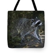 Racoon Emerging From The Woods Tote Bag