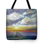 Radiance - Square Sunset Tote Bag