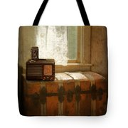 Radio And Camera On Old Trunk Tote Bag