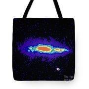 Radio Image Of Spiral Galaxy Ngc 4631 Tote Bag
