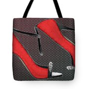 Raging Red Open Toed Stilettos Tote Bag
