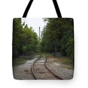 Rail To The Forest Tote Bag