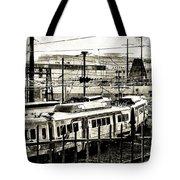 Rail Yard Blues Tote Bag