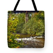 Railroad Bridge 7827 Tote Bag by Michael Peychich