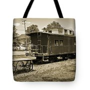 Railroad Car And Wagon Tote Bag