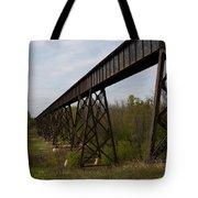 Railroad High Bridge 3 Tote Bag