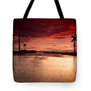Railroad Sunset Tote Bag by Cale Best