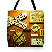 Railroad Talk Tote Bag