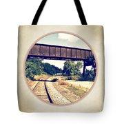 Railroad Tracks And Trestle Tote Bag
