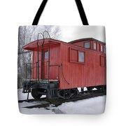 Railroad Train Red Caboose Tote Bag