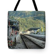 Railway Station West Interlaken Switzerland Tote Bag