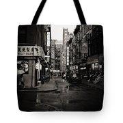 Rain - Pell Street - New York City Tote Bag