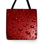 Rain Drops Bloody Red  Tote Bag