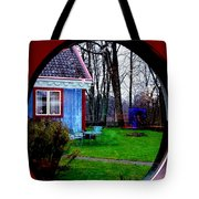 Rain Drops Through Window Tote Bag