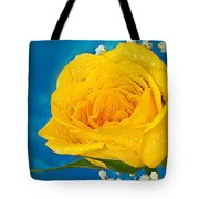 Rain On A Yellow Rose Tote Bag