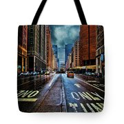 Rain On Park Avenue Tote Bag