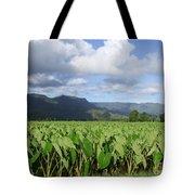 Rain Over A Hanalei Taro Field Tote Bag