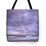 Rain Storm At The Sea Tote Bag