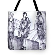 Rainbow 1920s Fashions Tote Bag