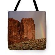 Rainbow And Red Rock Tote Bag